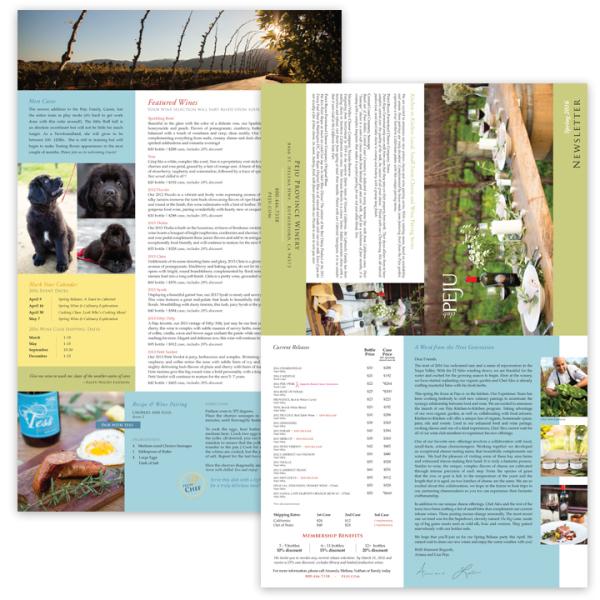 Wineclub Newsletter, Quad fold