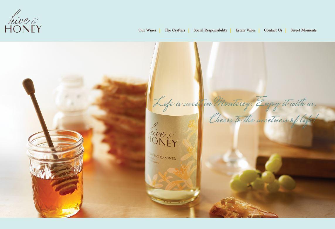 hiveandhoneywines.com  |  UI design