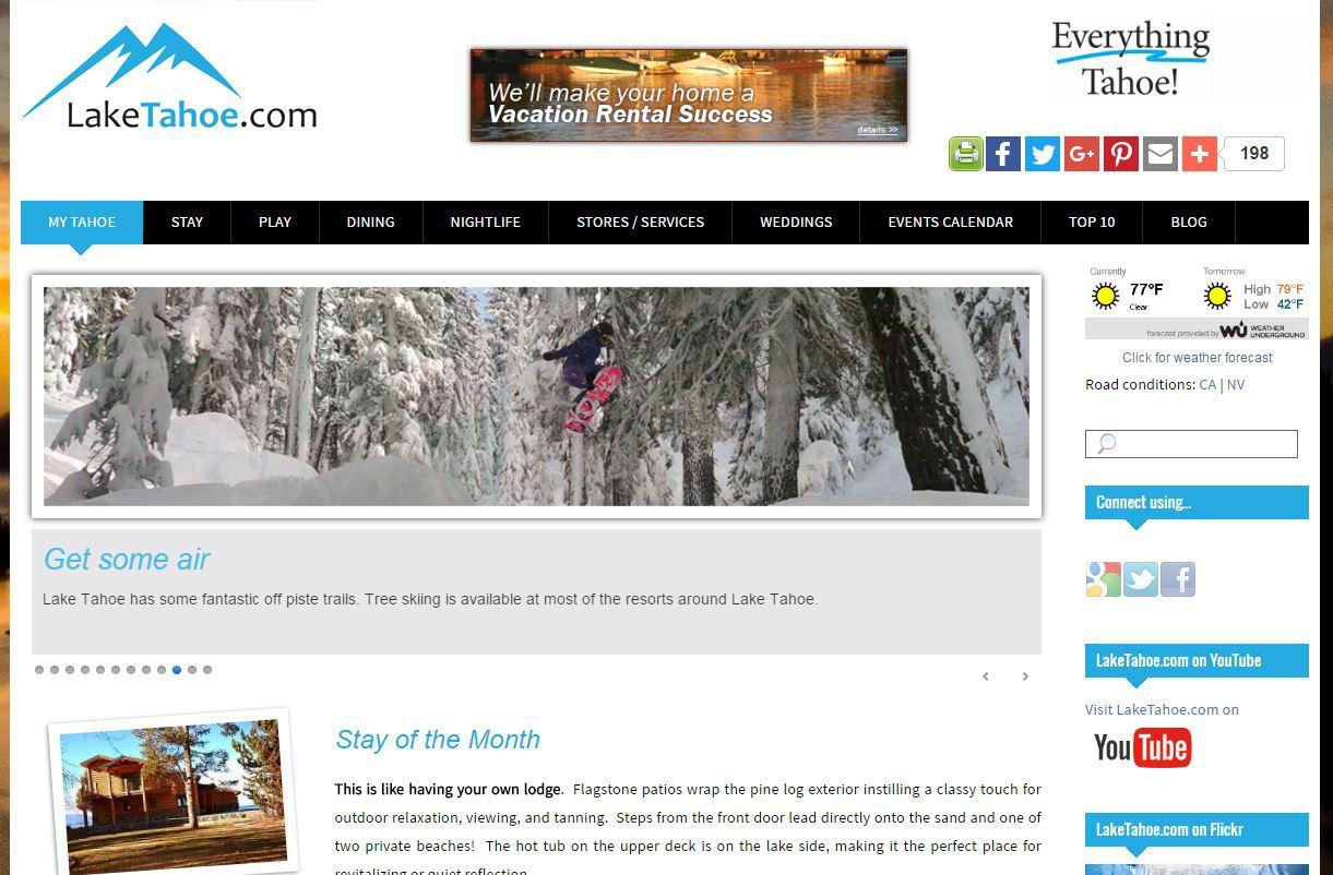 laketahoe.com  |  UI design & logo design