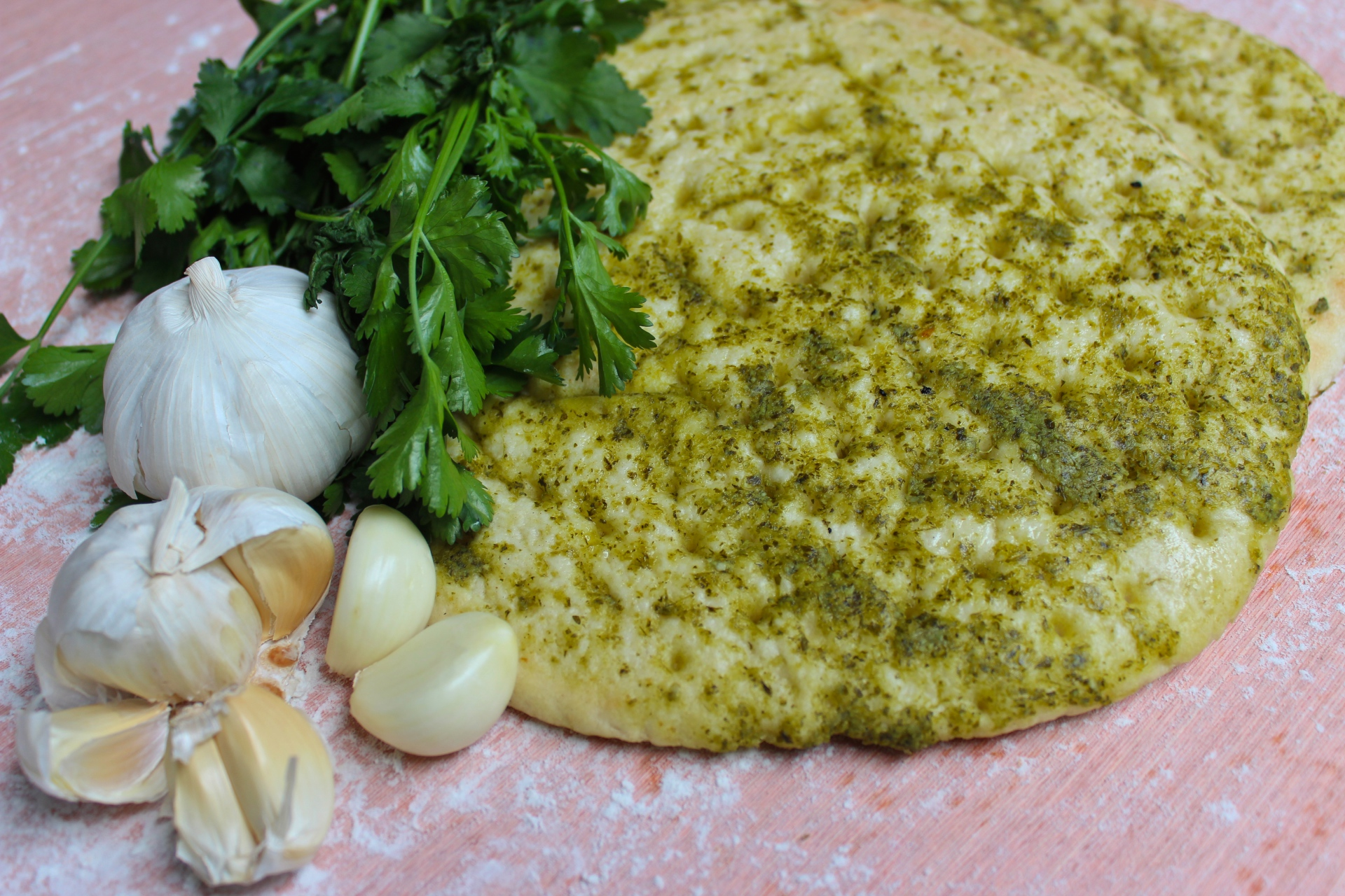 Garlic & Coriander Flatbread