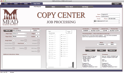 Copy Center Job Processing