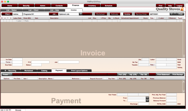 Finance Invoice Payments Program