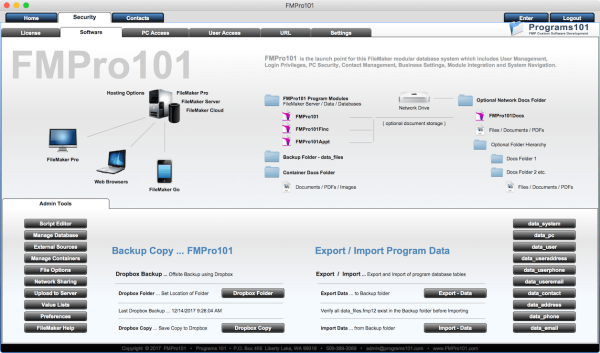 FMPro101 Security Module - Software