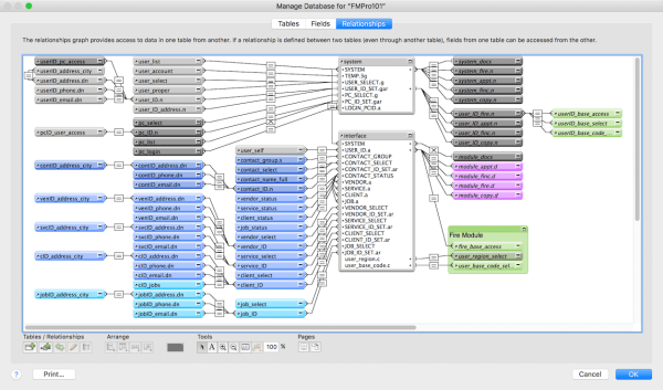 FileMaker Relationship Graph