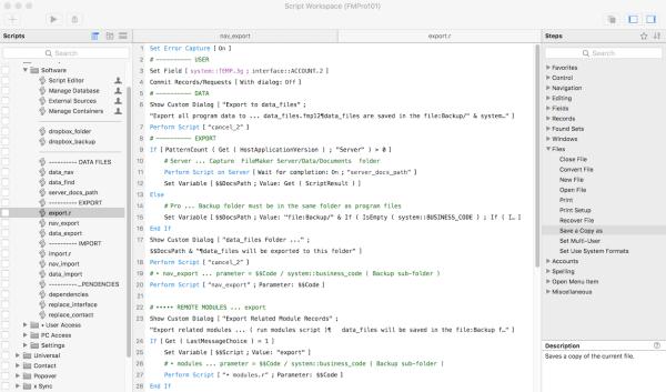 FileMaker Database Scripts