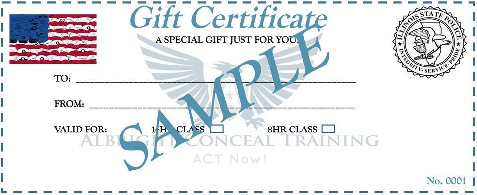 ACT CCW Gift Certificate