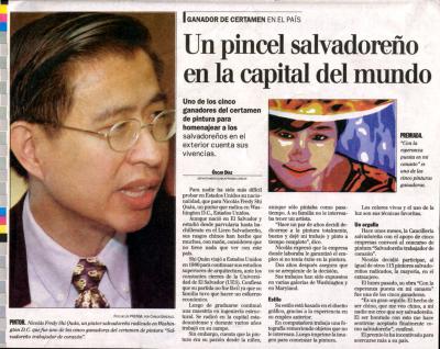 Un pincel Salvadoreno en la capital del mundo