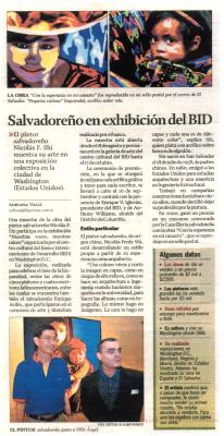 Salvadoreno en exhibicion del BID