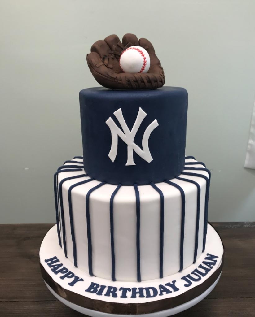 Custom Cakes NJ Yankees Cake for a First Birthday