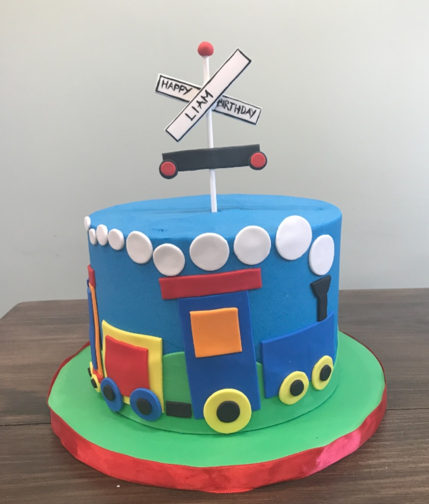 Custom Cakes NJ Buttercream Train Cake