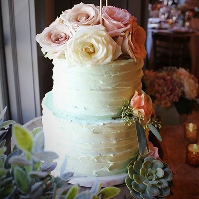 custom cakes nj mint green buttercream wedding cake