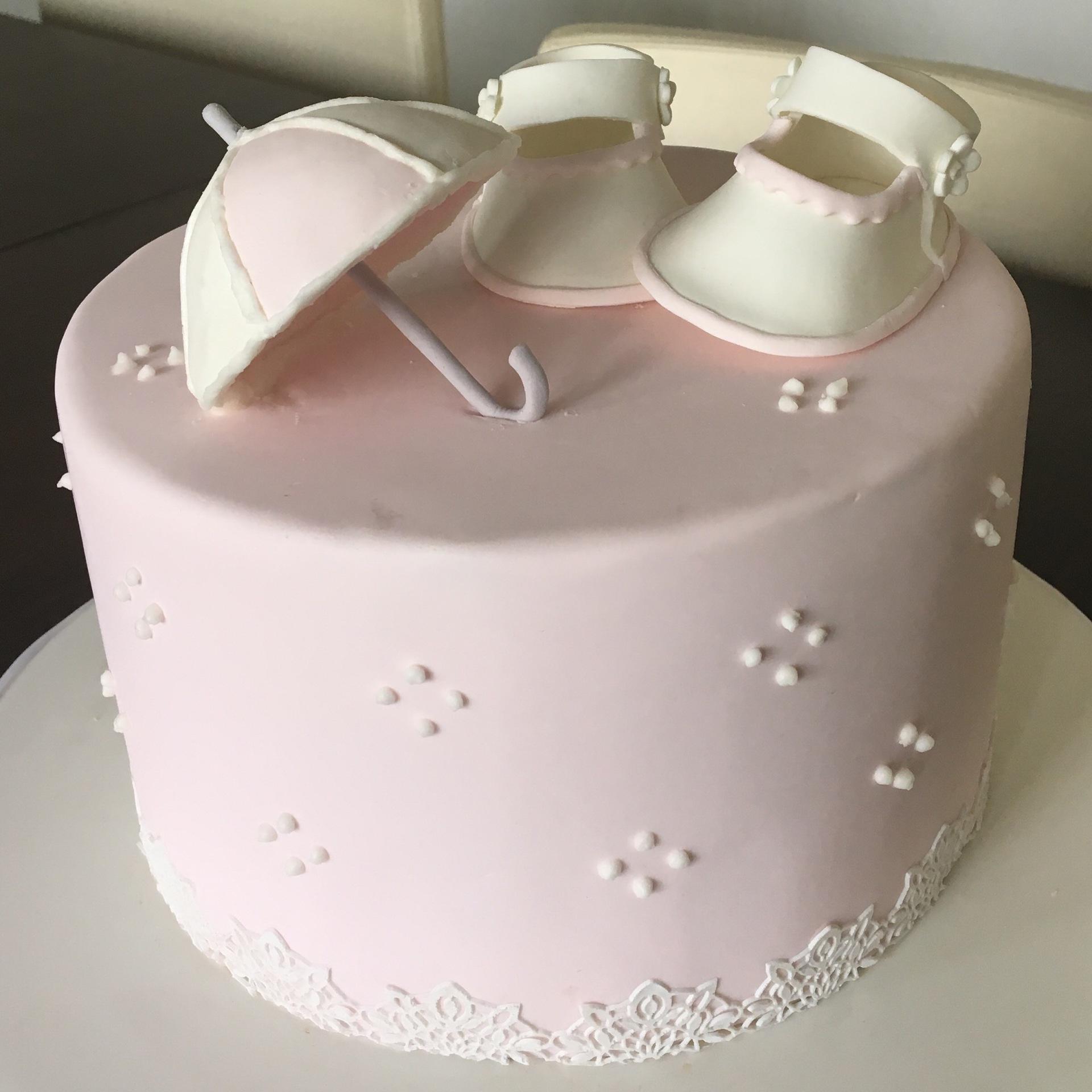 custom cakes nj baby sprinkle shower cake delicate lace