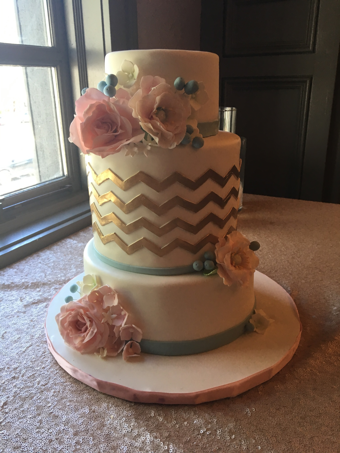 custom cakes nj gold chevron cake bridal shower cake white and gold cake