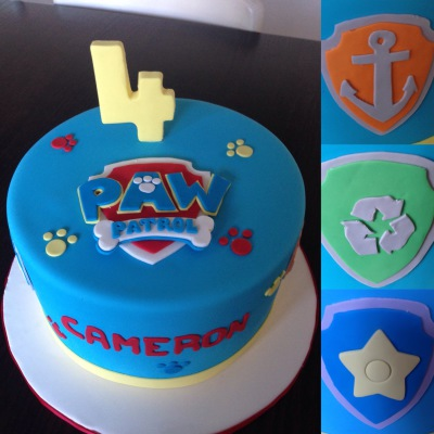 paw patrol birthday cake for a boy
