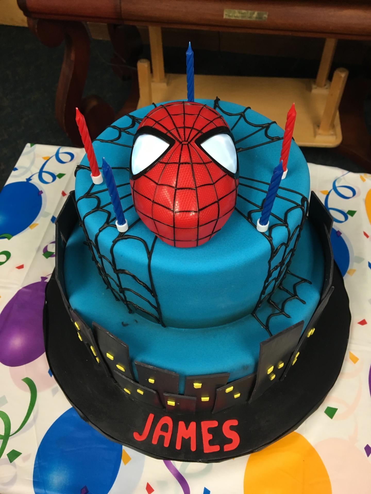 custom cake nj spiderman cake superhero cake