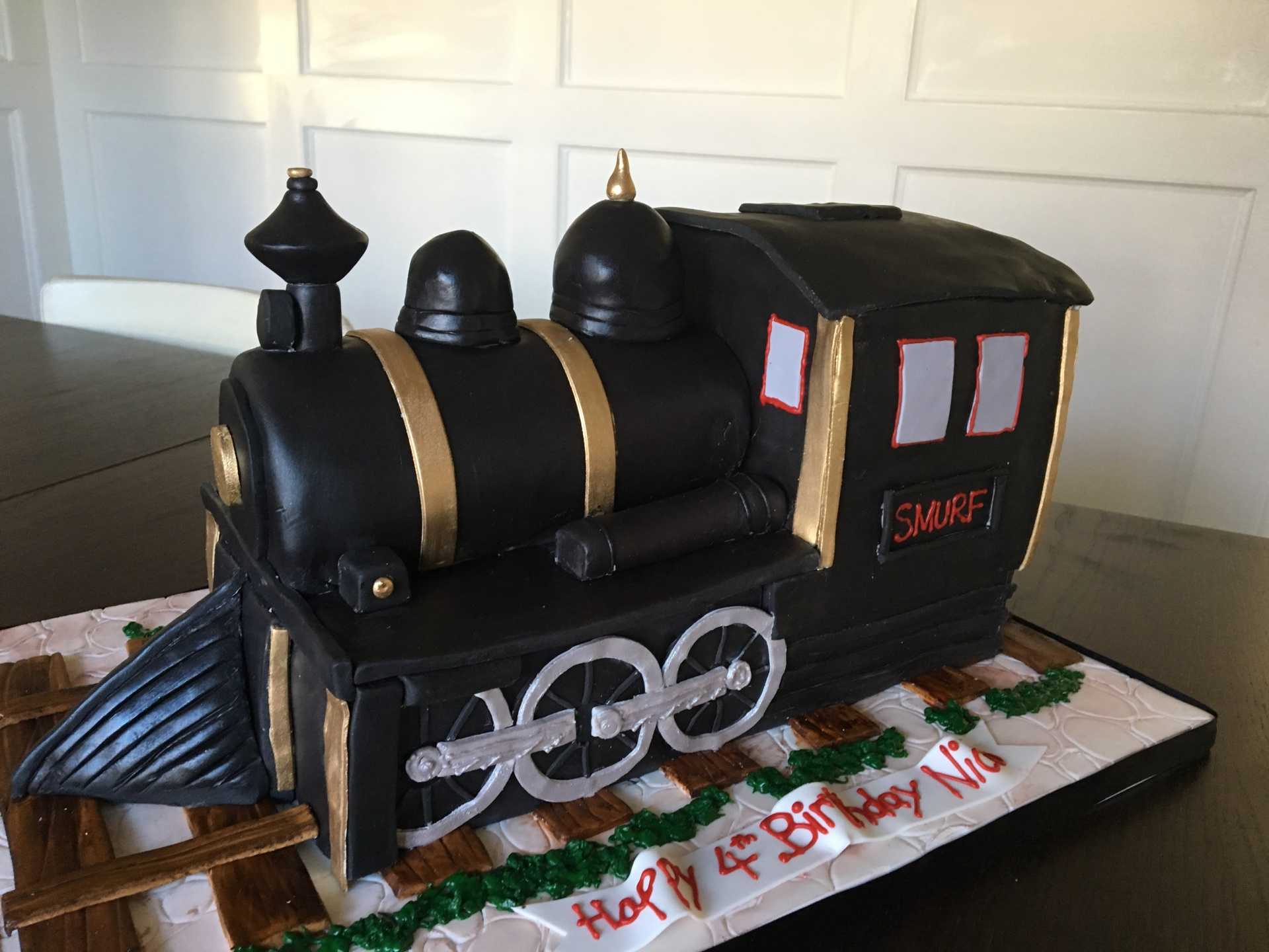 custom cake nj steam train cake black and gold train cake