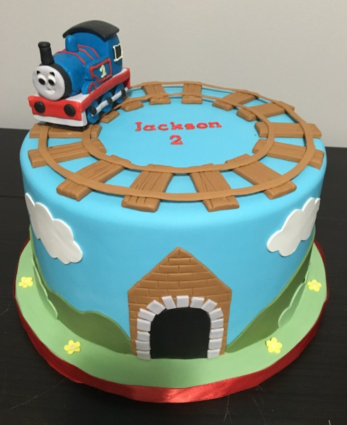 custom cake nj Thomas the train birthday cake
