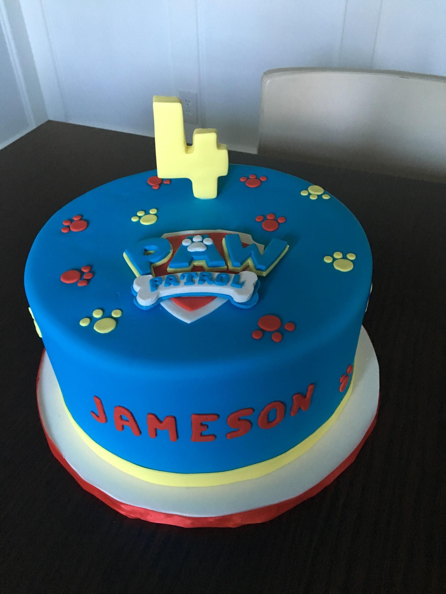 custom cake nj paw patrol cake