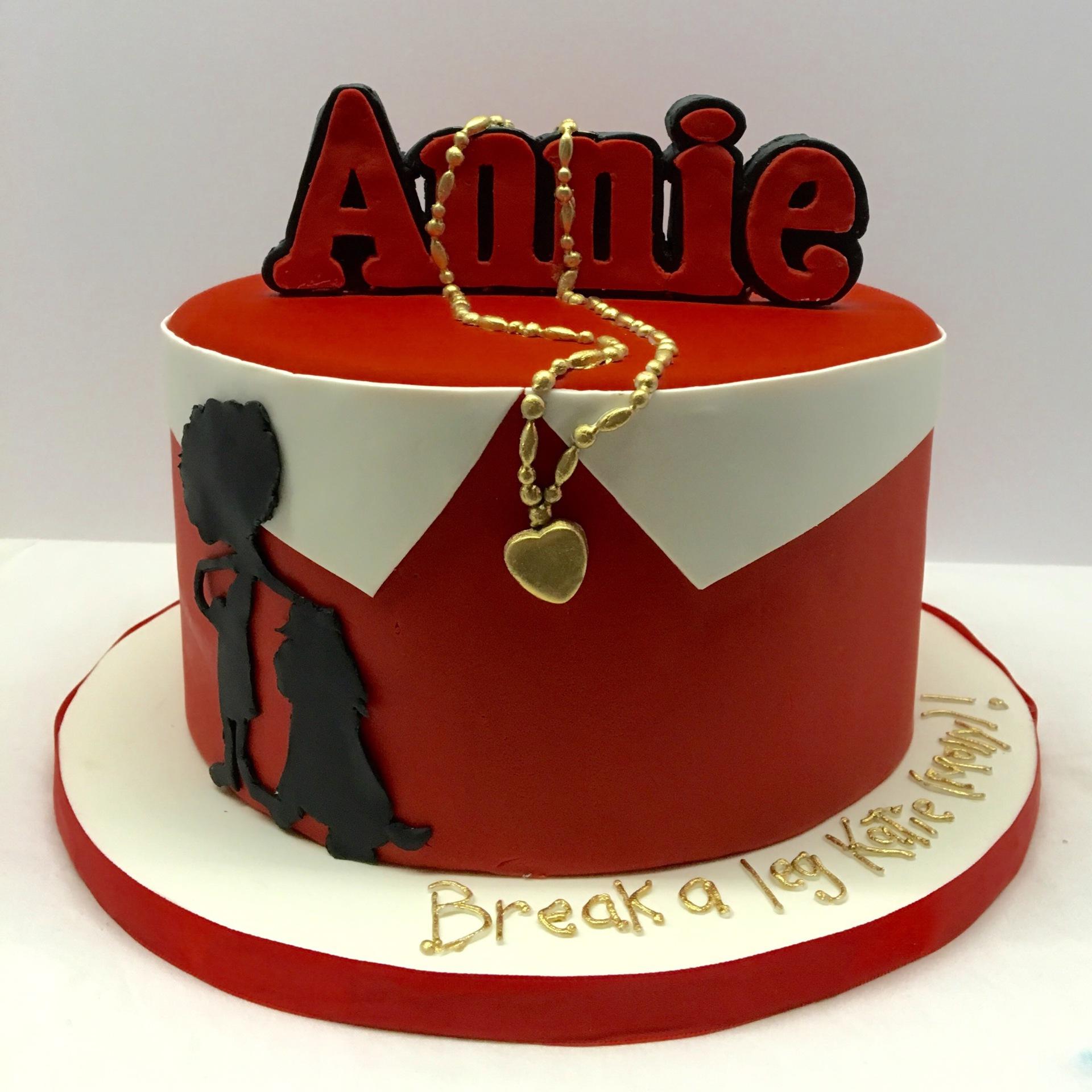 custom cakes nj annie the musical cake