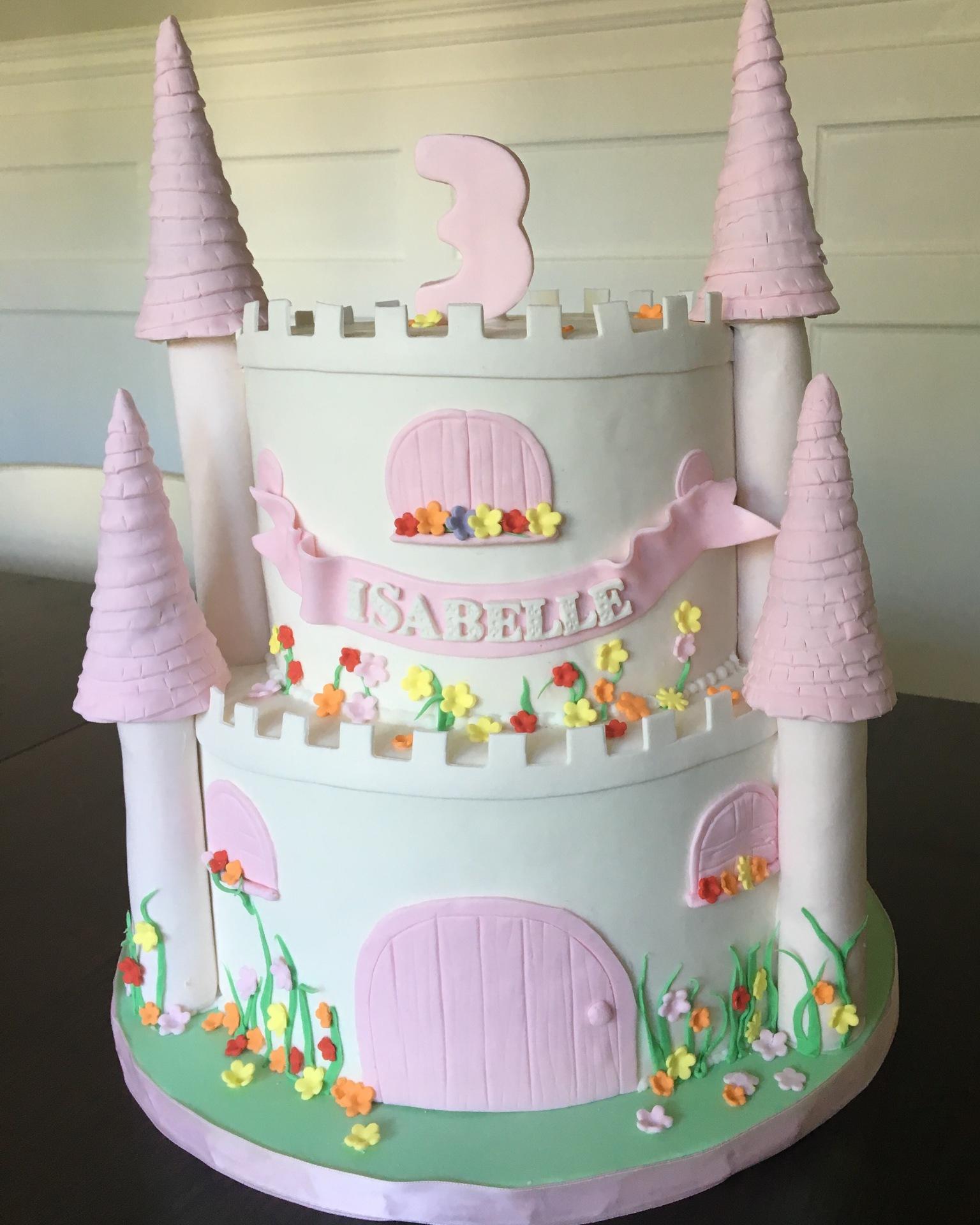custom cakes nj princess castle cake pink and white castle cake