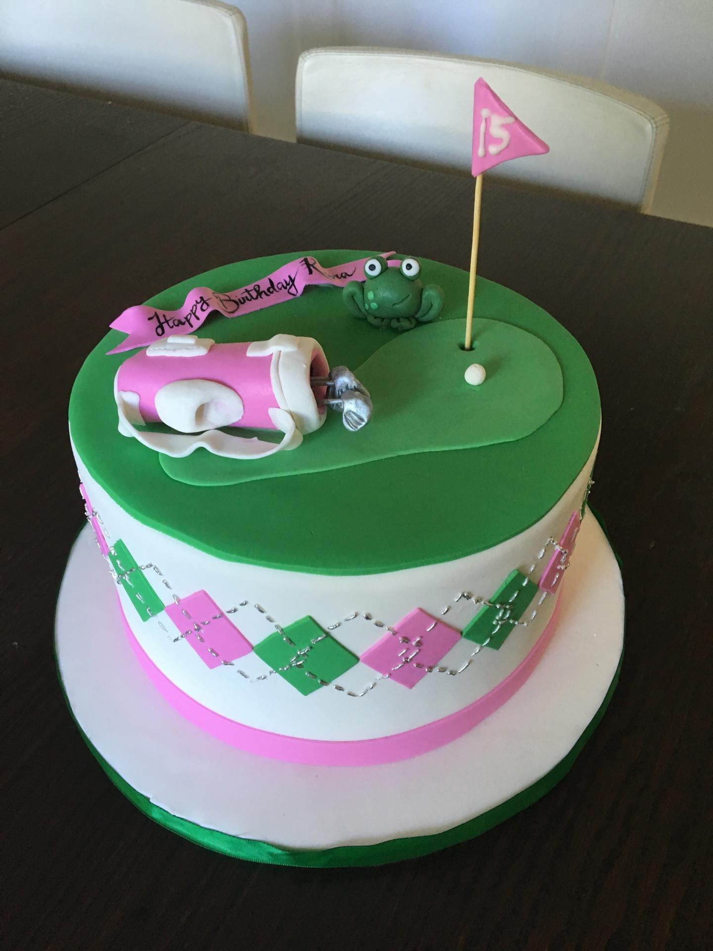 custom cakes nj golf themed cake girl