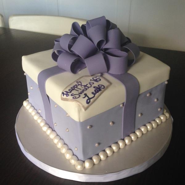 custom cakes nj gift box cake lilac cake