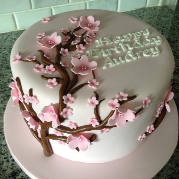 custom cakes nj cherry blossom cake