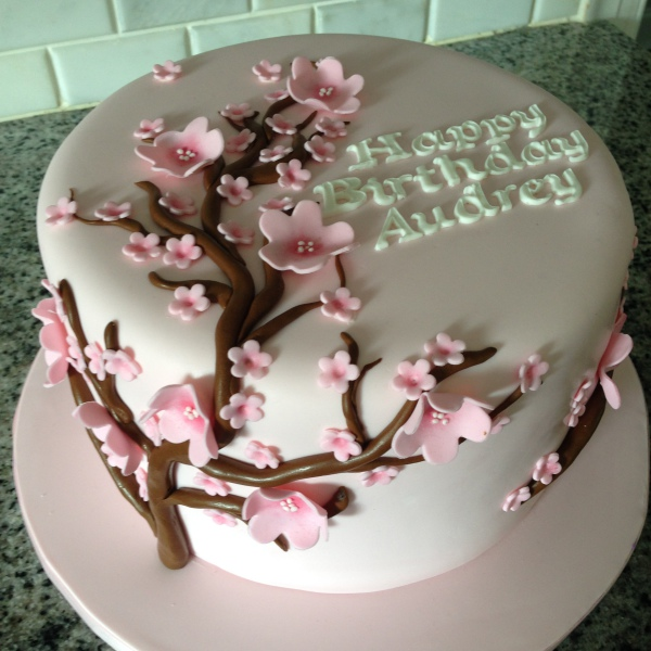 custom cakes nj cherry blossom cake