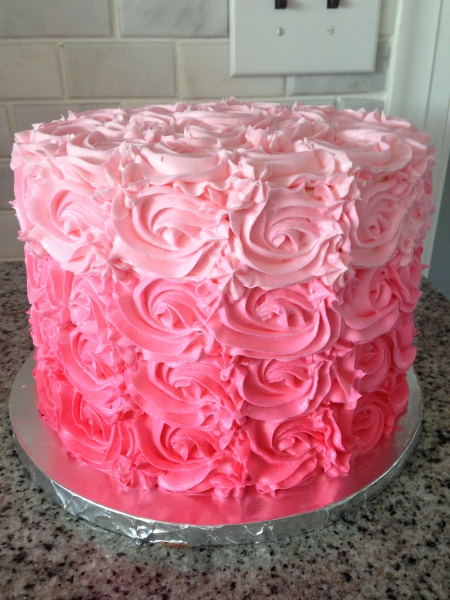 custom cakes nj rosette cake pink ombre cake