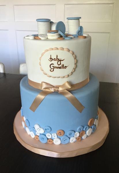custom cakes nj button blue baby shower cake