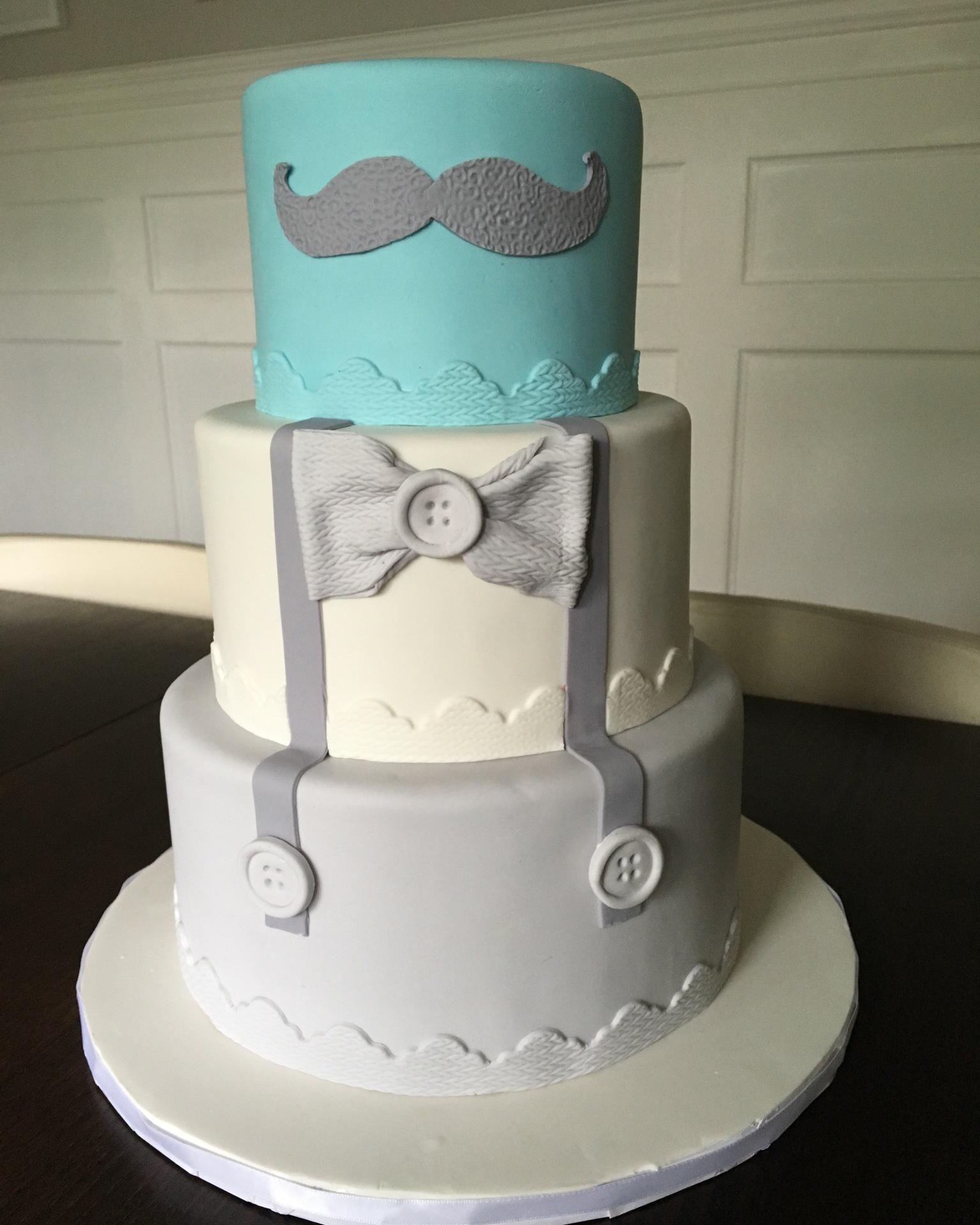 custom cakes nj little man baby shower cake