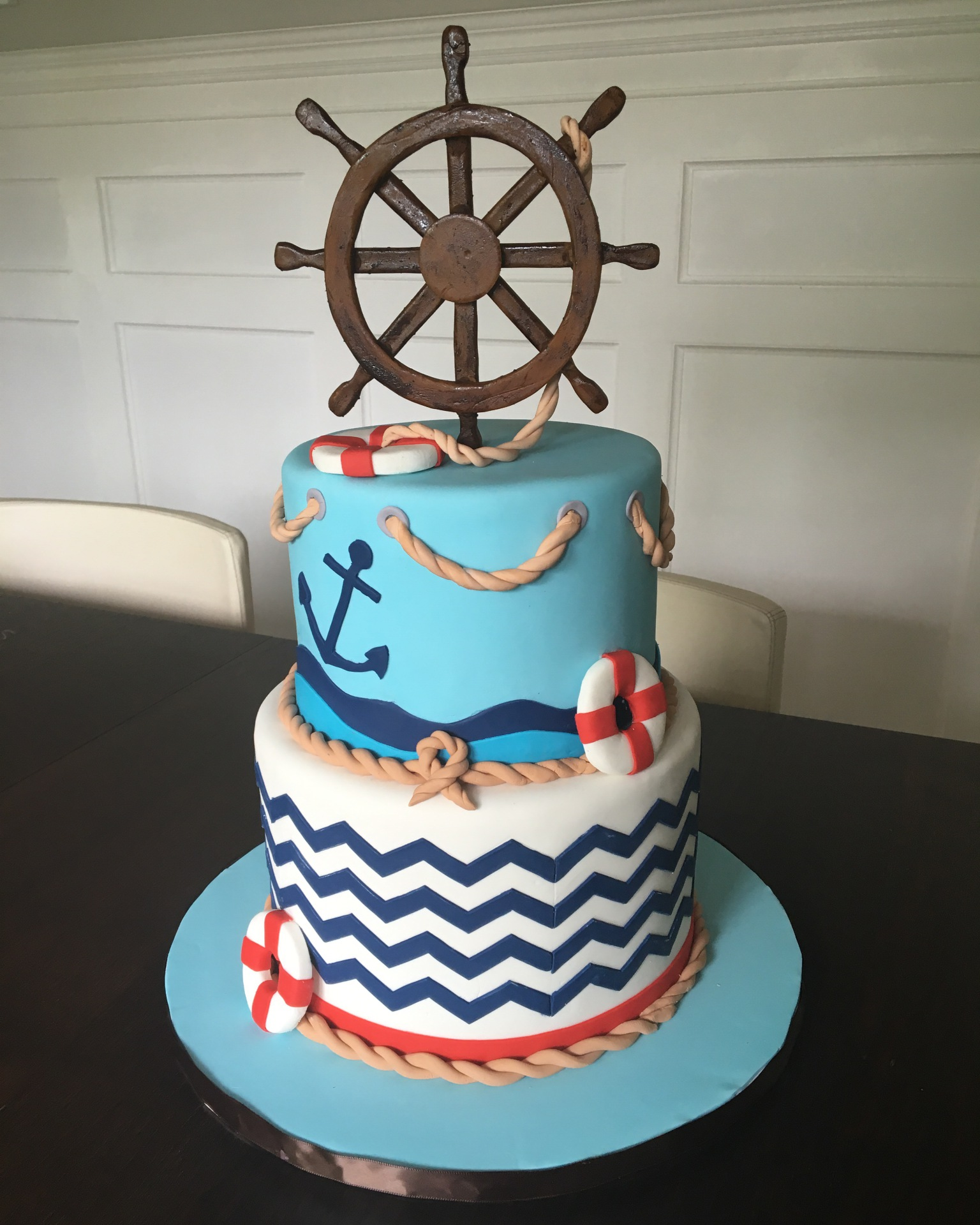 custom cakes nj nautical baby shower cake