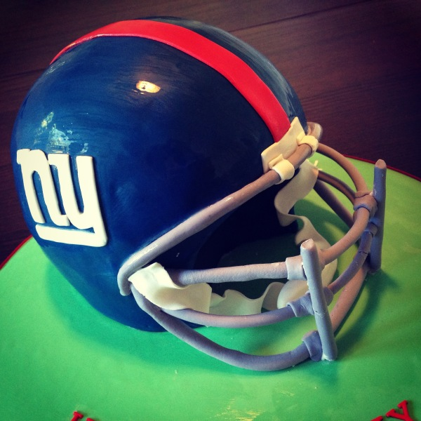 custom cakes nj NY Giants helmet cake