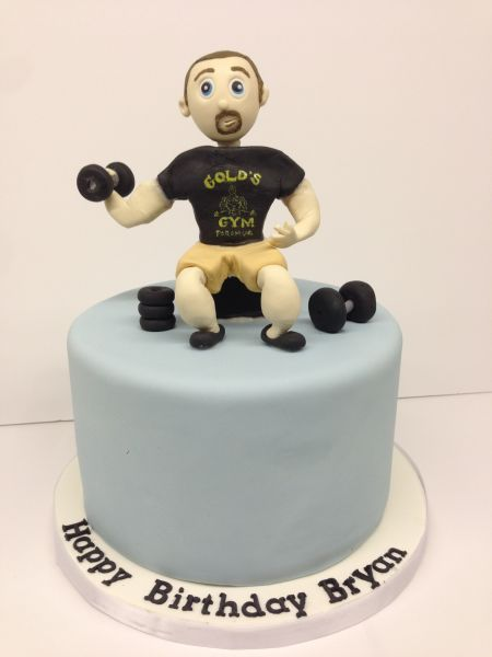 custom cakes nj bodybuilder cake figurine