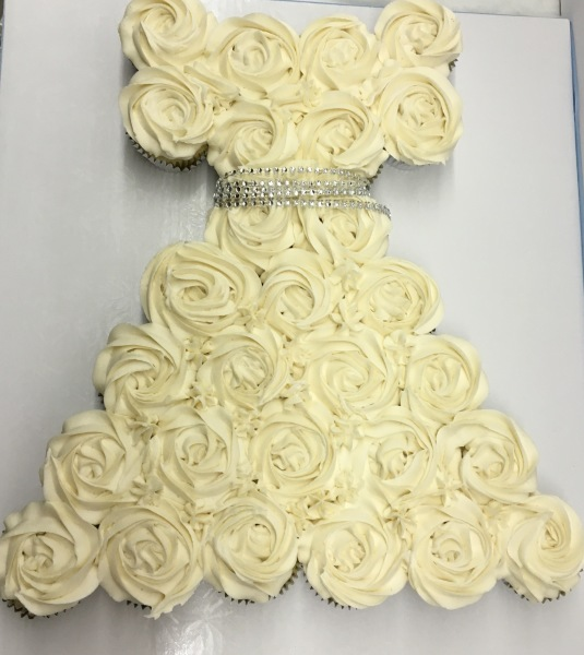 Cupcake communion dress cake