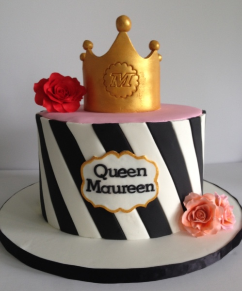 custom cakes nj black and white cake with crown