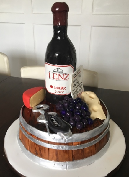 custom cakes nj wine and cheese board cake