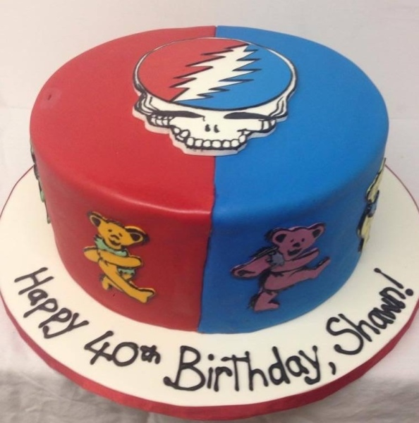custom cakes nj grateful dead cake deadhead