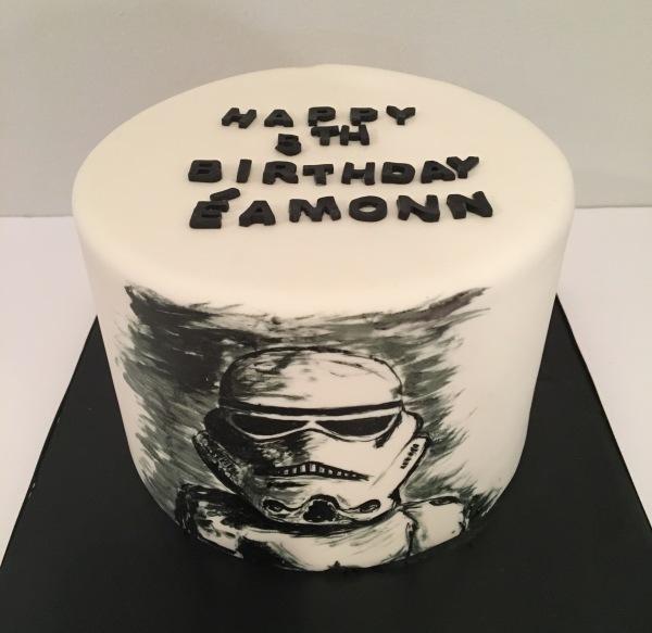 custom cake nj hand painted storm trooper cake