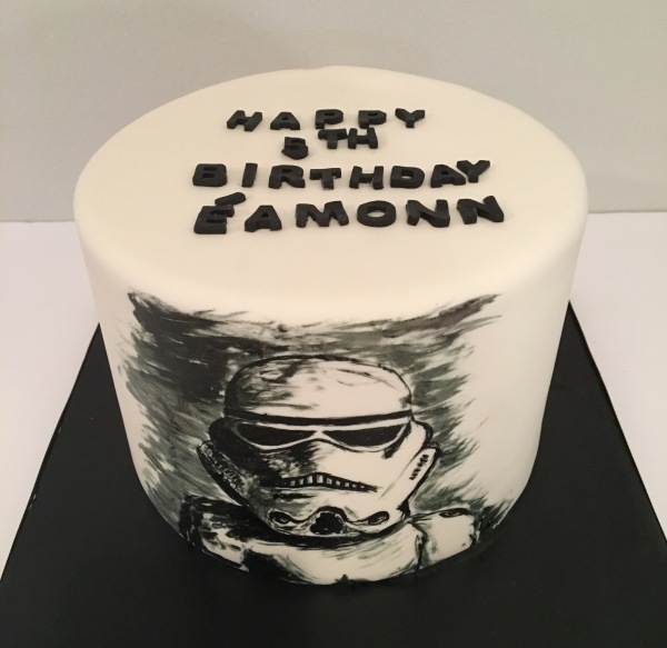 custom cake nj hand painted storm trooper cake