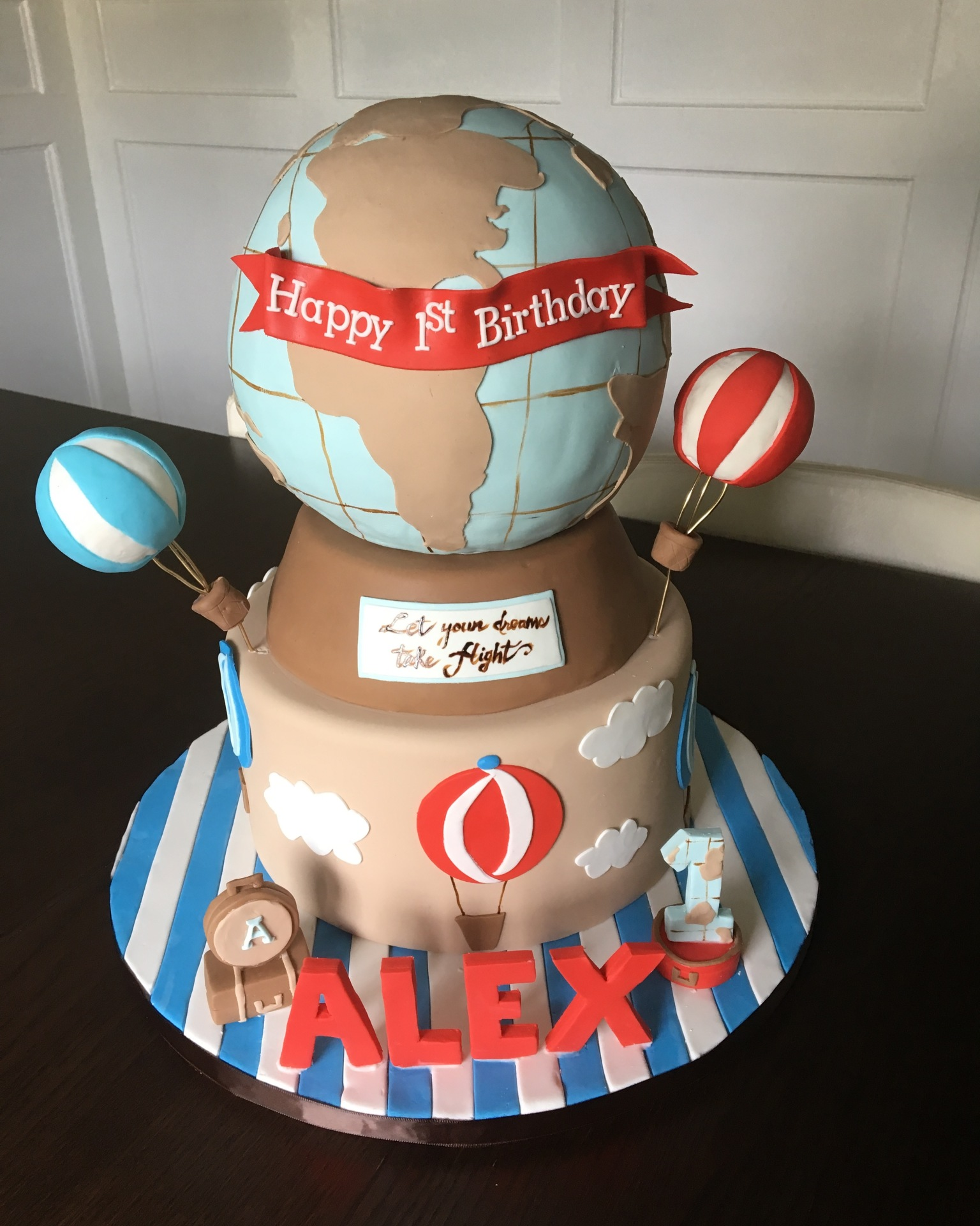 custom cakes nj world traveller globe cake