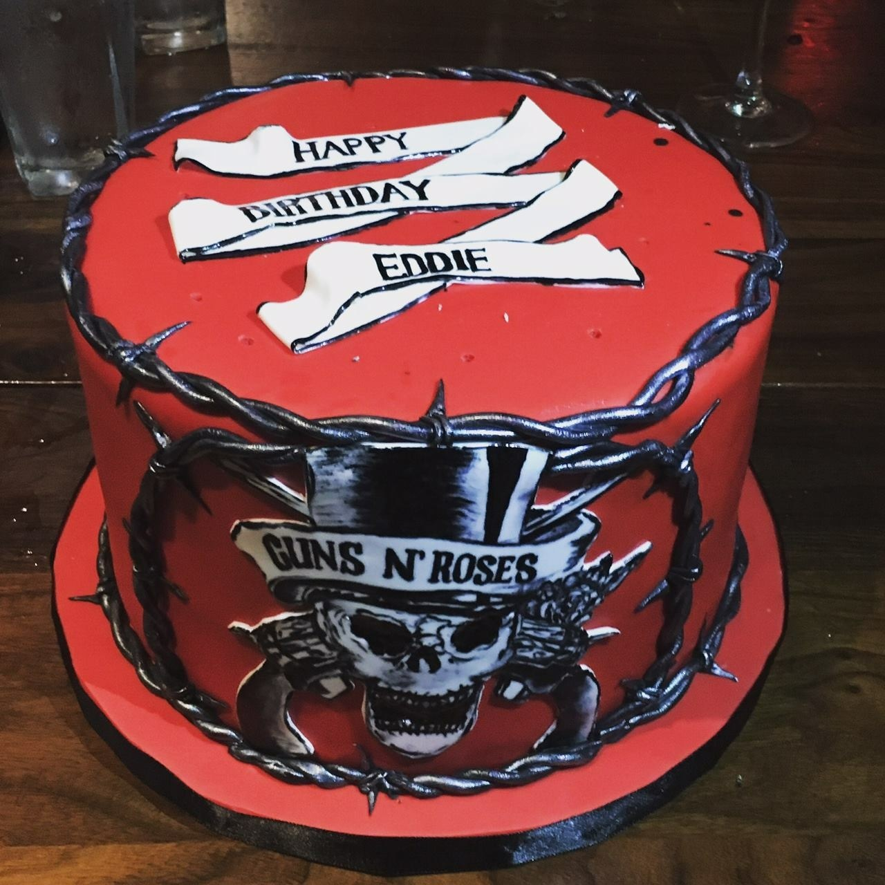 custom cakes nj guns n roses cake handpainted cake