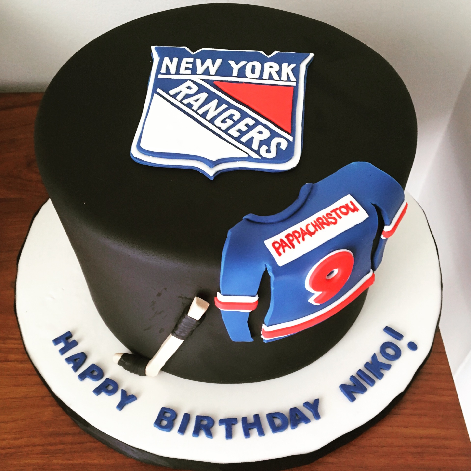 custom cake nj NY Rangers cake hockey birthday cake