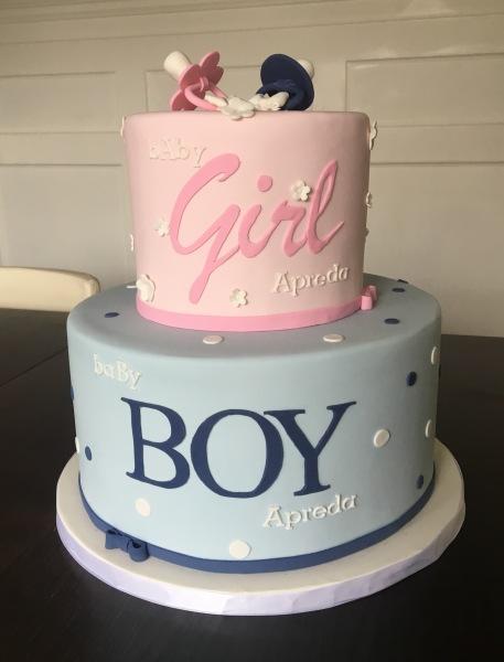 custom cakes nj twins baby shower cake