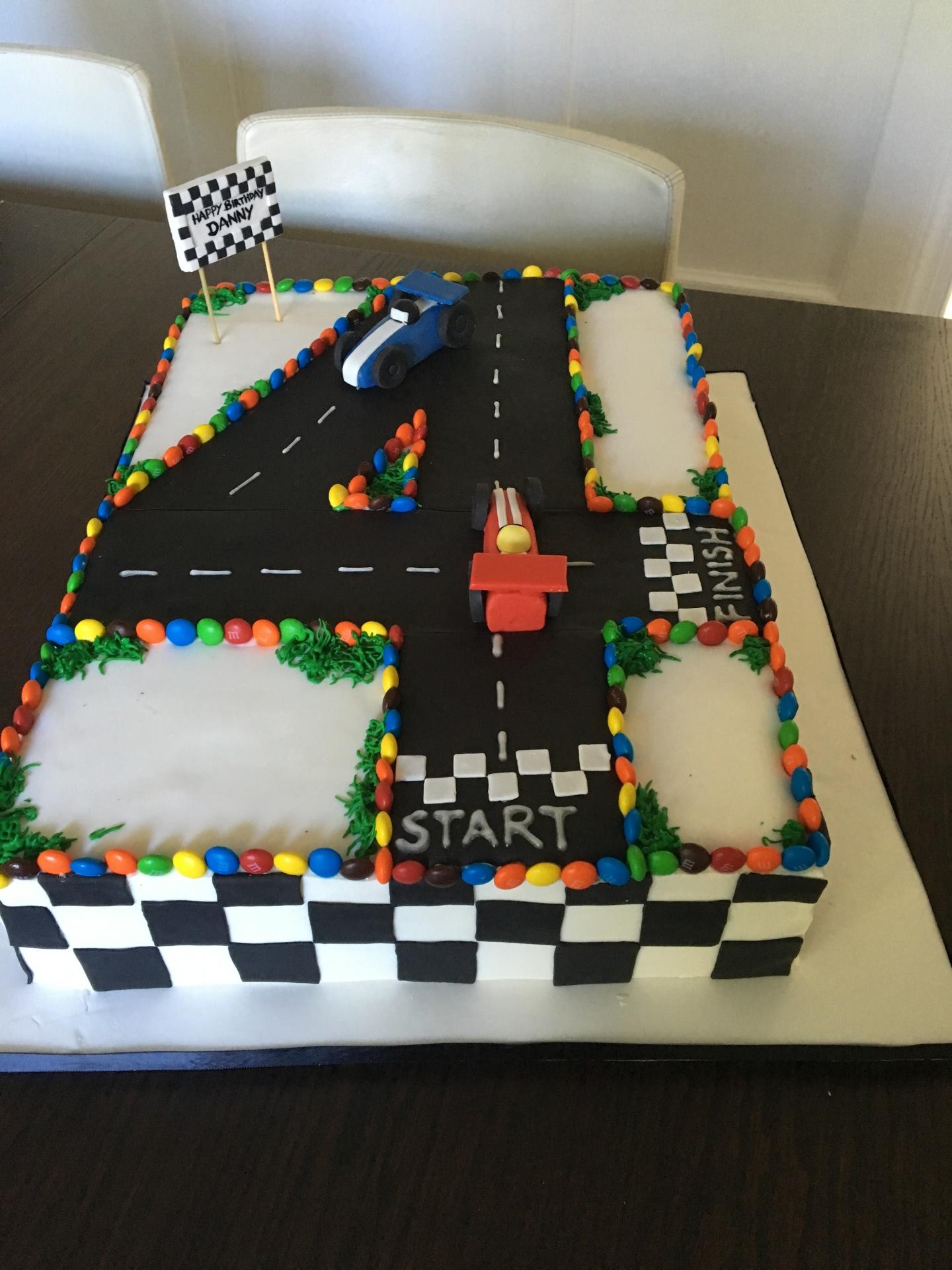 custom cake nj race track cake racing themed cake