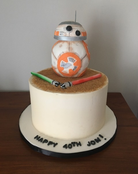 custom cakes nj star wars BB8 cake