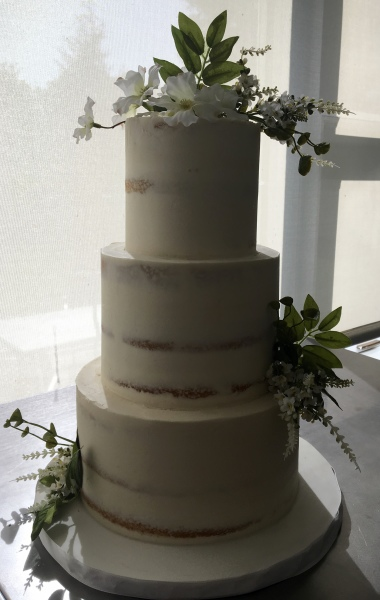 Semi-Naked Cake for a Baptism