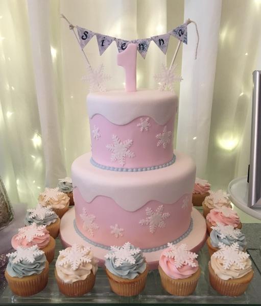 custom cakes nj winter OneDerland cake snowcap winter girl cake
