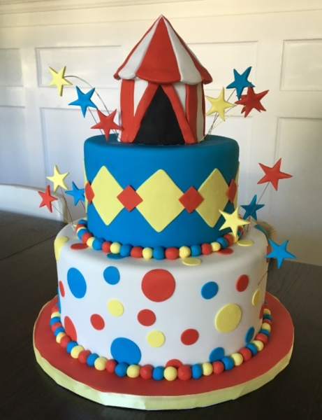 custom cake nj circus cake colorful birthday cake
