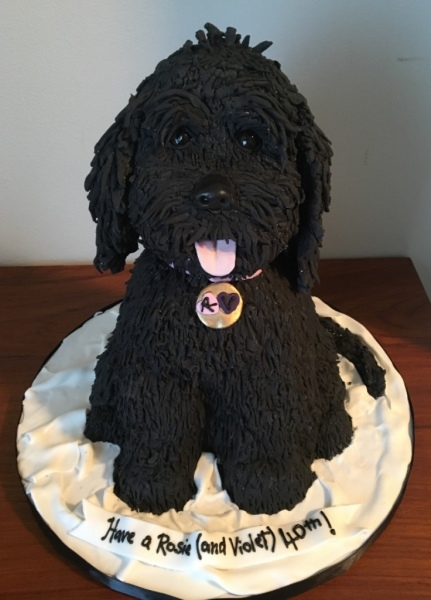 custom cakes nj puppy dog cake